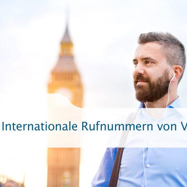 Internationale Rufnummern für Ihr Business von VoIP-One
