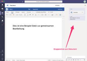 Microsoft-Teams - Word-Datei bearbeiten